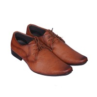 Smoky Tan Party Lace Up Shoes(Tan)
