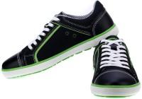 Sparx Trendy Navy Blue & Florocent Green(Navy, Green)