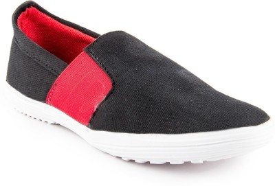 Golden Sparrow Black Casual Shoes(Black, Red)