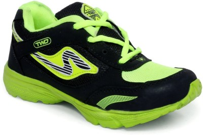 TOUCHWOOD Wings Black/Green Sports Running Shoes
