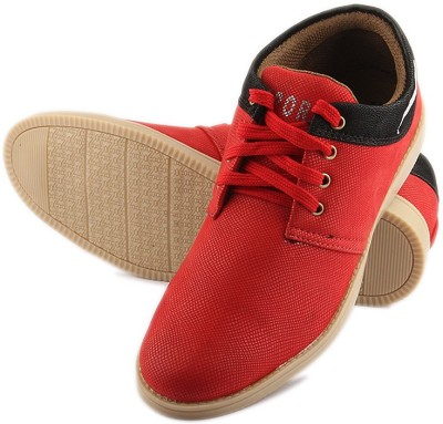 TASHI Stylish Red Sneakers Canvas Shoes