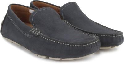 Clarks Davont Drive Blue Nubuck Casual Shoes