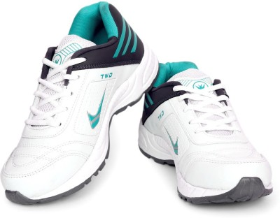 TOUCHWOOD Shot White/Grey Sports Running Shoes, Walking Shoes