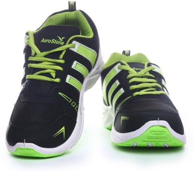 Aerostone ARS-PLAYER-2-BLACK-PGREEN Running Shoes