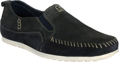 Cizmar Cizmar Corporate Casuals - Suede Loafers In Navy Blue-Grey Shade With Stitching Design. Loafers, Party Wear, Outdoors, Corporate Casuals, Casuals