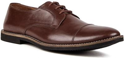 Nudo Plain Brown Lace Up Shoes