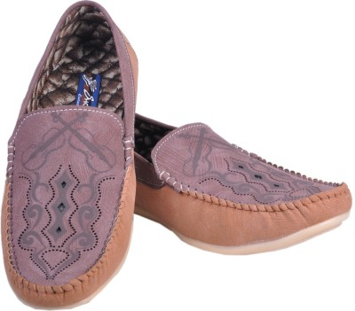 Shoebook Shoebook Ruff Brown with tan Matching Slip On shoes Loafers
