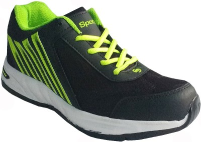 Spot On FKSP-E-254-BLK-GRN Running Shoes