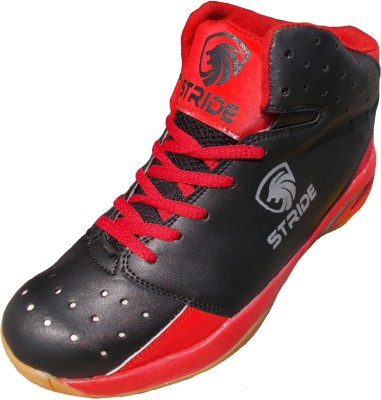 Port Stride Red Badminton Shoes(Black)