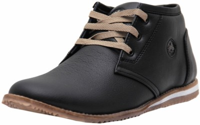 West Code Men's Synthetic Leather Formal Shoes 098-Black-8 Casuals