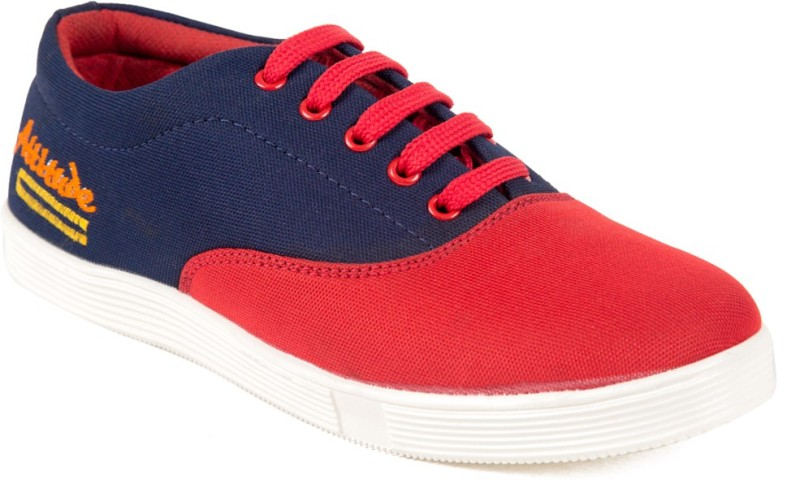 Adjoin Steps Canvas Shoes(Red, Blue)