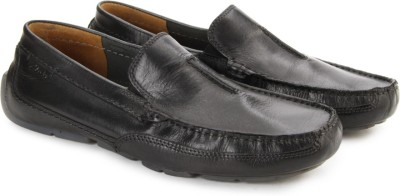 Clarks Ashmont Race Black Smooth Loafers