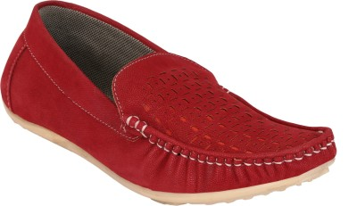 Groofer kk-0202 Stylish Red Loafers