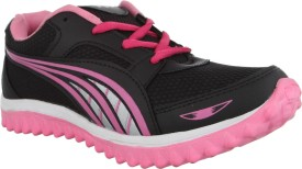 A-star Running Shoes(Black, Pink)