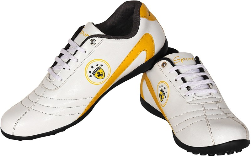 Nexq Walking Sports Yellow Walking ShoesWhite Yellow