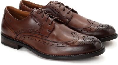 Clarks Dorset Limit Brown Leather Formal Shoes