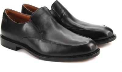 Clarks Dorset Step Black Leather Slip On