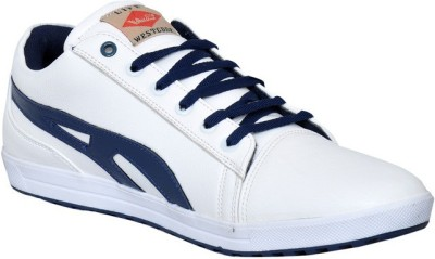 West Code Men's Synthetic Leather Casual Shoes H-1-White-9 Casuals