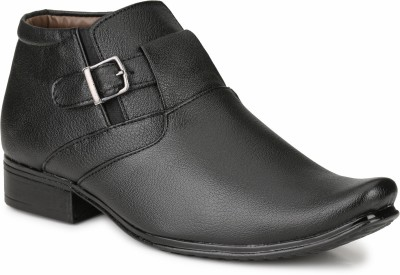 Mactree Ankle Cut Monk Strap Shoes