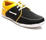 FNB F-28 Casual Shoes (Black, Yellow)