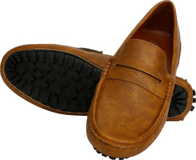 Cizmar Cizmar Driving Shoes in Tan Colour Textured High Quality Synthetic Leather Driving Shoes