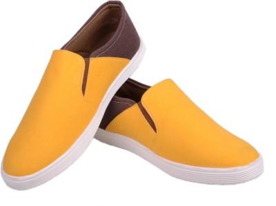 Felando 606-Yellow-9 Canvas Shoes