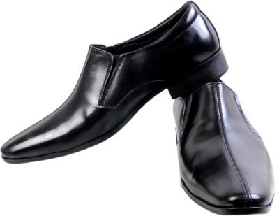 Stylords Ken Black Slip On Shoes