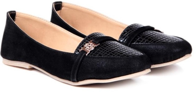 TEN Women Black Loafers(Black)