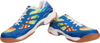 Nivia Musket Badminton Shoes(White, Blue)