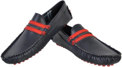 Stylords Competitive Navy Blue Loafers