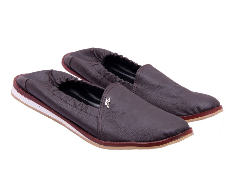 Royal Collection Rubber Clousre Brown Loafers