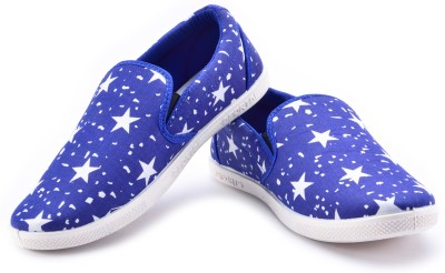 Maxis Duke Blue Mocassins Canvas Shoes