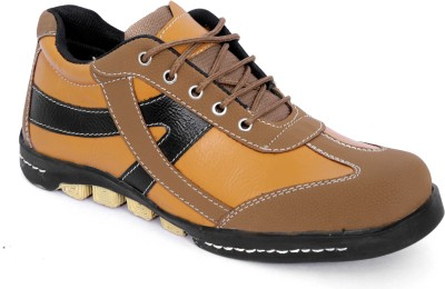 Woodlark Tan Synthetic Leather Casual Shoes