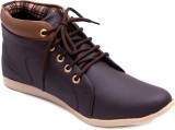Vansky Ankle Length Casual Shoes (Brown)