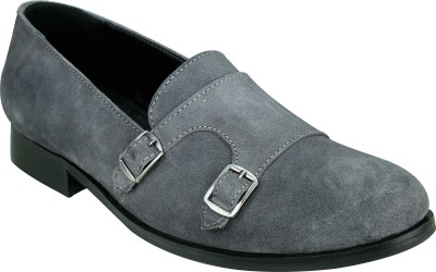 Entice GREY DOUBLE MONK LOAFER Loafers, Party Wear