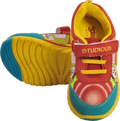 Tulaasi Red & Green Kids Sports Shoes with Synthetic Sole Casuals