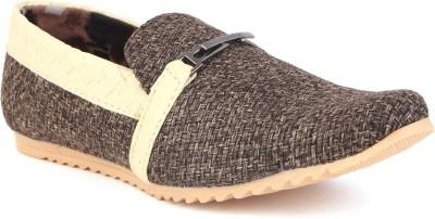 Skylark Brown Jute Loafers
