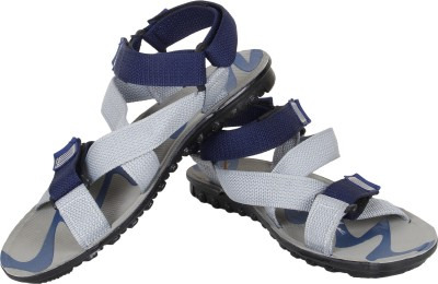 Super Matteress Grey-850 Men Grey, Blue Sandals