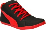 Drivn Ankle Length Casual Sneakers (Blac...