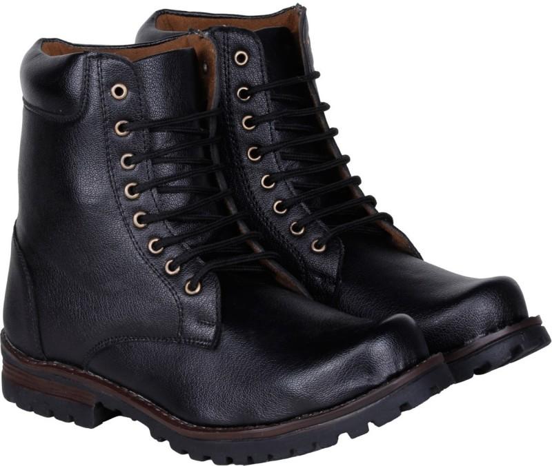 Kraasa Long Cowboy Boots, Outdoors(Black)