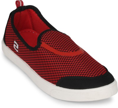 Scantia 164-G71_B-BLK-RED Loafers(Black, Red)