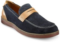 Hats Off Accessories Penny Navy Blue Loafers(Navy)