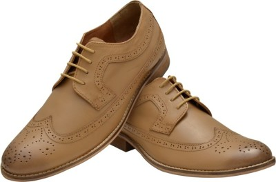 Hirels Tan Leather Brogues Lace Up Shoes