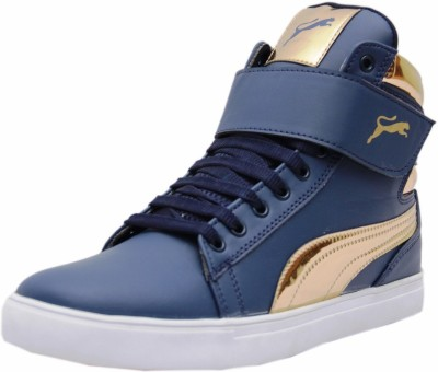 Black Tiger Men's Synthetic Leather Casual Shoes 8000-G-Blue-8 Casuals