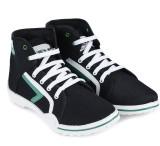 Fluid Men Canvas Shoes (Black, White)