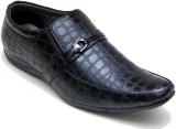 Oora SNAKE STYLE Slip On Shoes (Black)