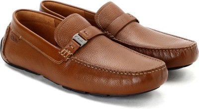 Clarks Davont Saddle Tan Leather Casual Shoes