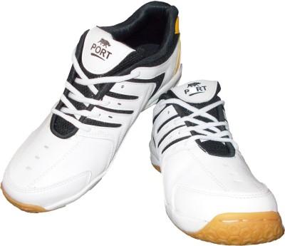 Port TecSpark Badminton Shoes(White)