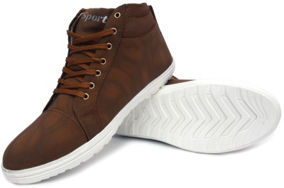 Buenos Tan Sporty High Ankle Sneakers