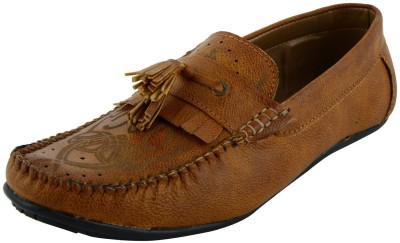 VOGUE GUYS tan laser Loafers